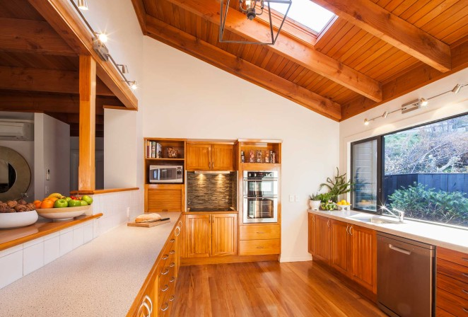 Full-sized Chef's kitchen equipped to cater for large number of Lodge guests
