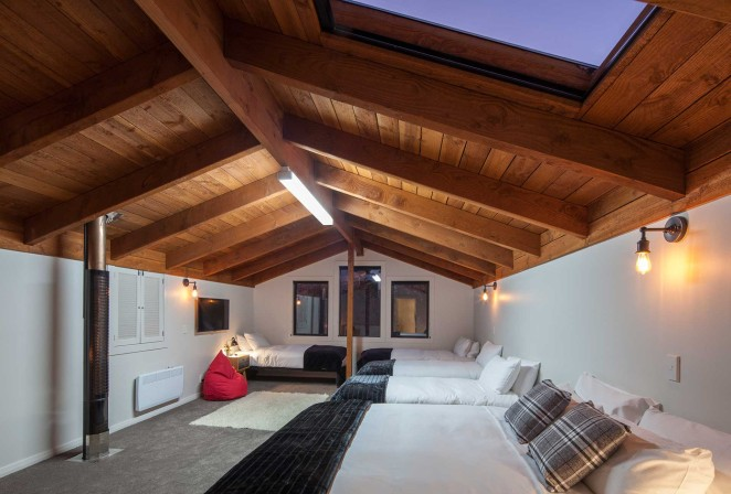 Spacious loft, Super King and four singles or six singles