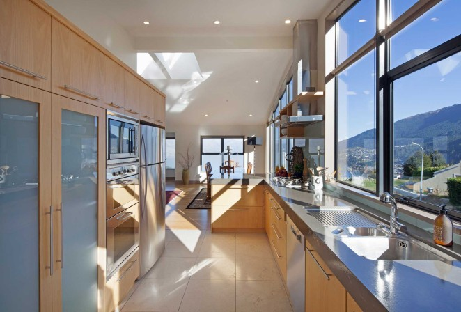 Well-appointed galley kitchen